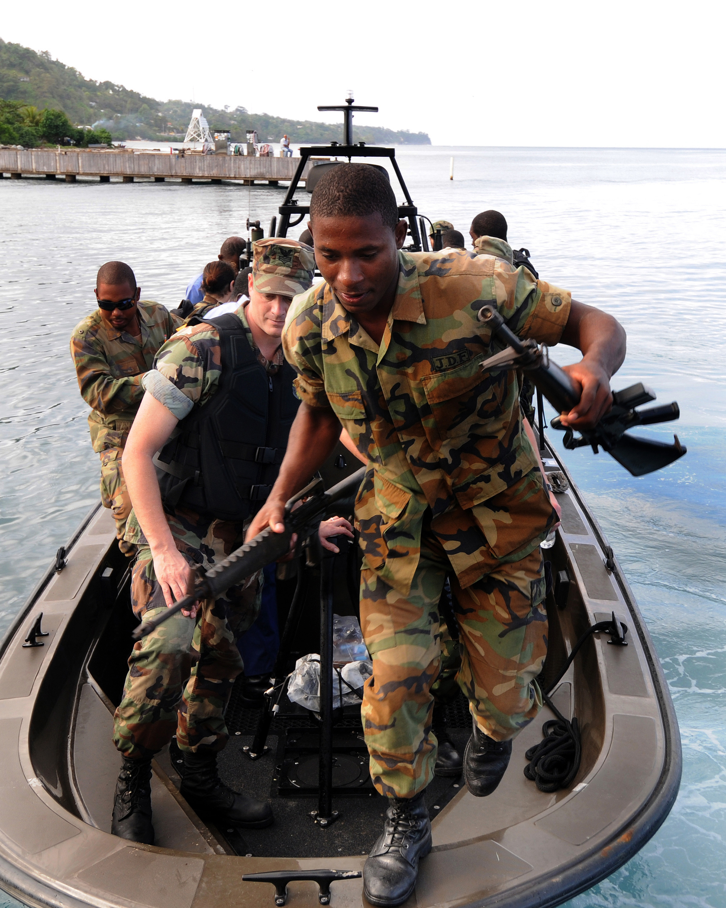 JDF-Training Jamaica Defence Force Application Form on running track, female soldiers, vehicles travelling convoys, soldiers operation ma pen,