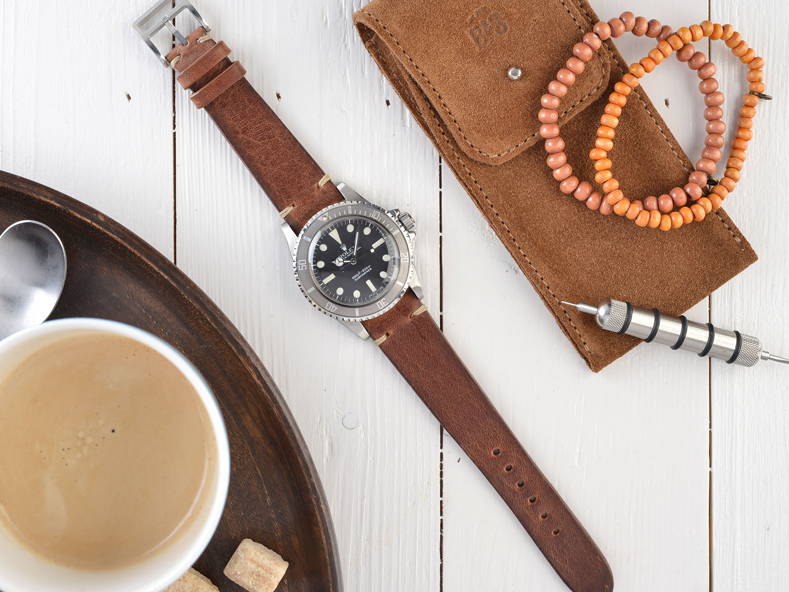 B&S Cotto Brown Watch Strap 20 mm