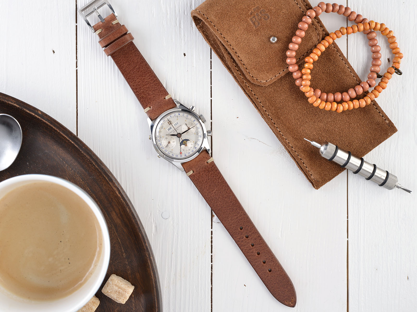 B&S Cotto Brown Watch Strap 19 mm