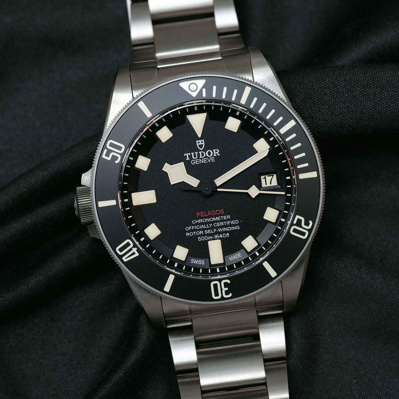 tudor pelagos left hand drive dive watch. Black Bedroom Furniture Sets. Home Design Ideas