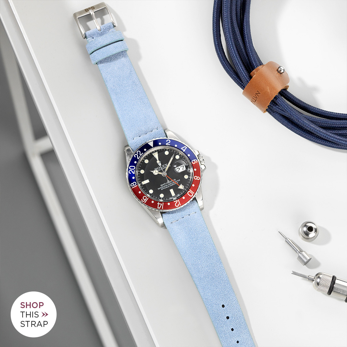 Bulang and Sons Strap Guide rolex 1675 GMT Pepsi Bezel Faded