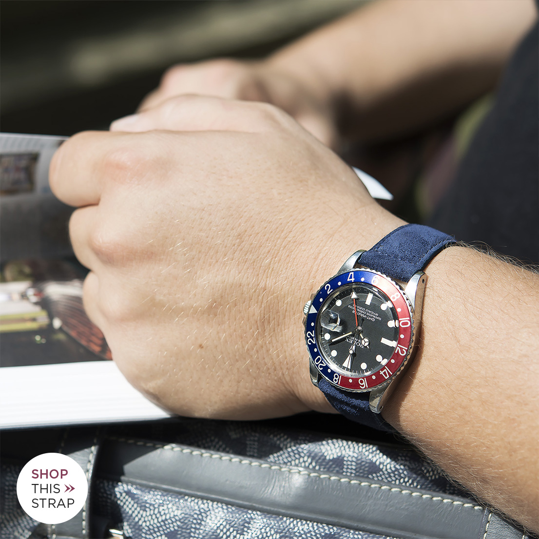 Bulang and Sons Strap Guide rolex 1675 GMT Pepsi Bezel Faded B