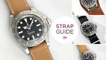 Bulang and Sons Rolex 5513 Submariner Maxi Mk1 Faded Strap Guide