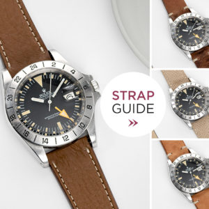 Bulang and Sons Strap guide Rolex Explorer Orange Hand