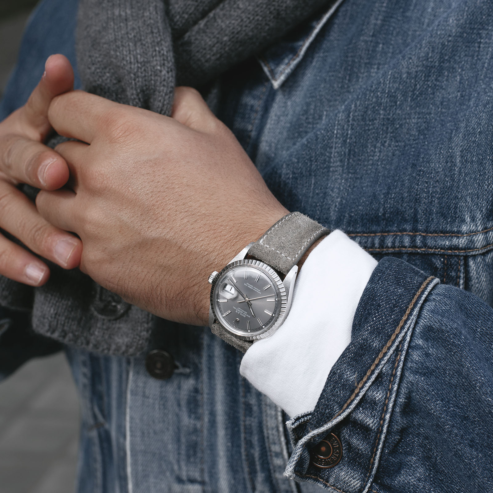 The 9 TO 5 Collection - Authentic Style for your Business and Life, Rolex Datejust on a Bulang and Sons Leather Watch Strap