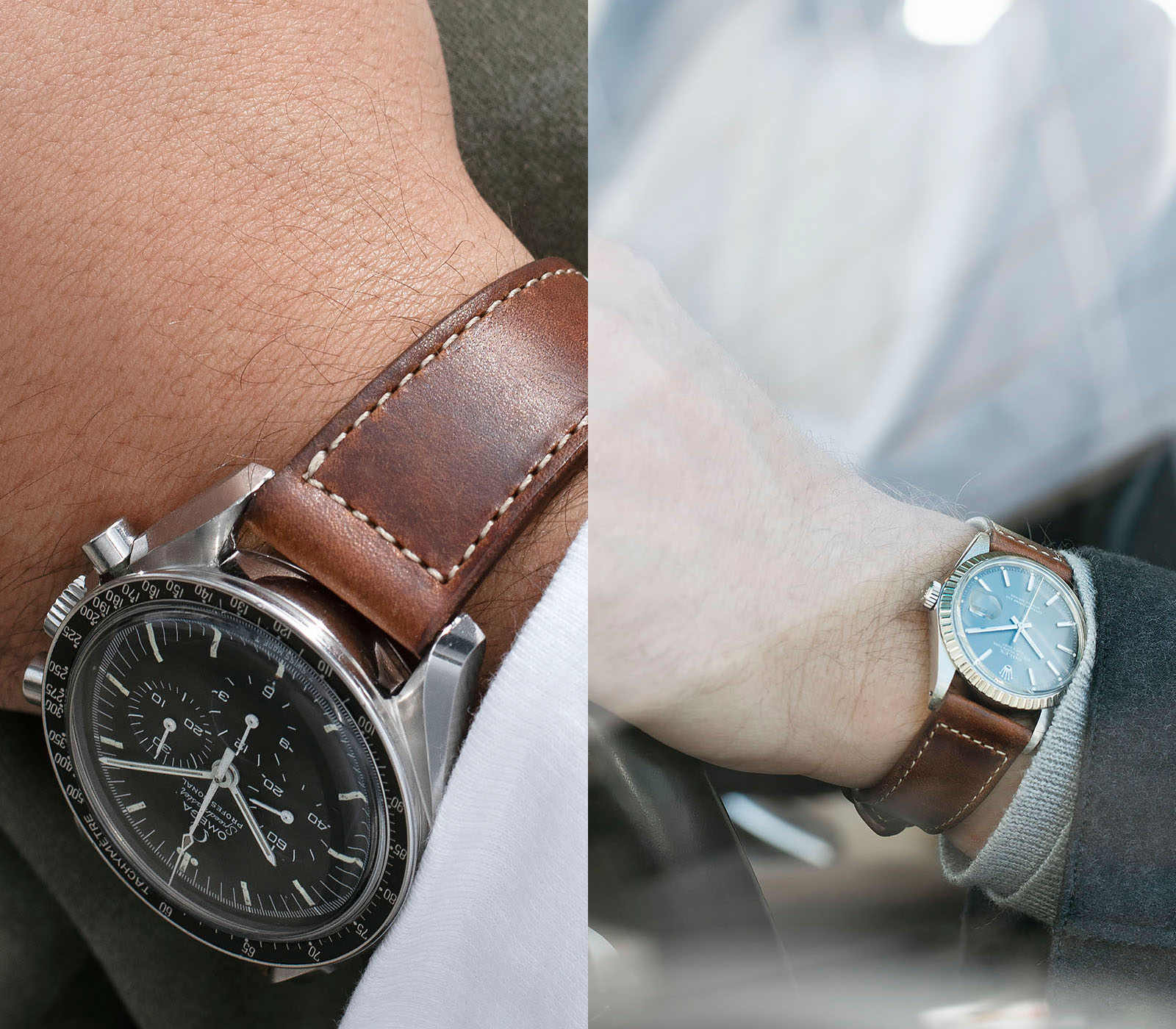 The 9 TO 5 Collection - Authentic Style for your Business and Life, Omega Speedmaster on a Bulang and Sons Leather Watch Strap