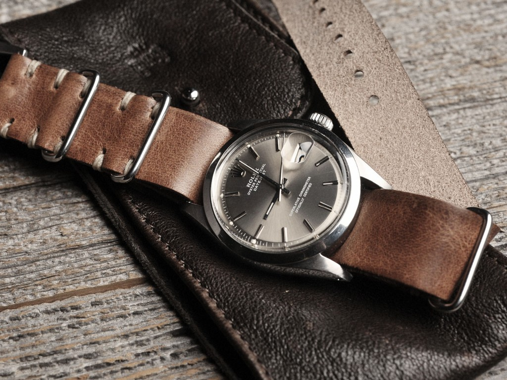 B&S watch on Leather Nato 01