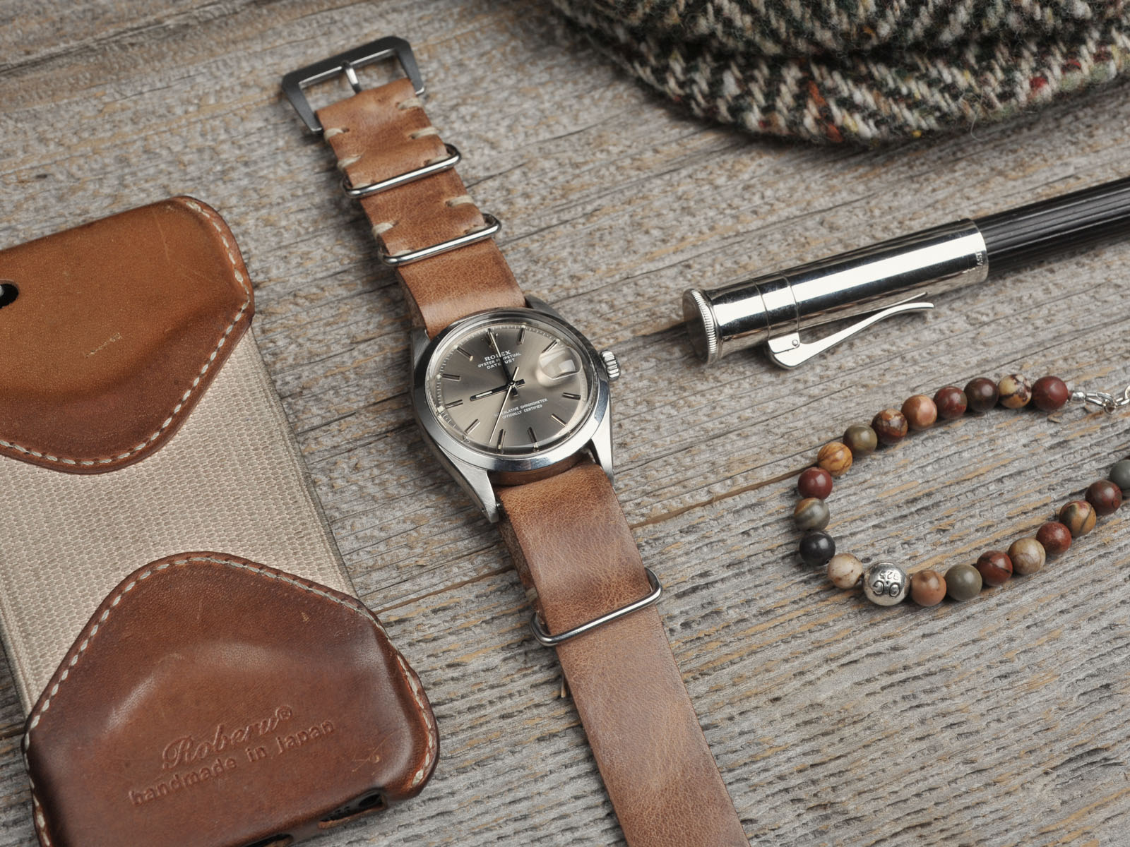 B&S watch on Leather Nato 03