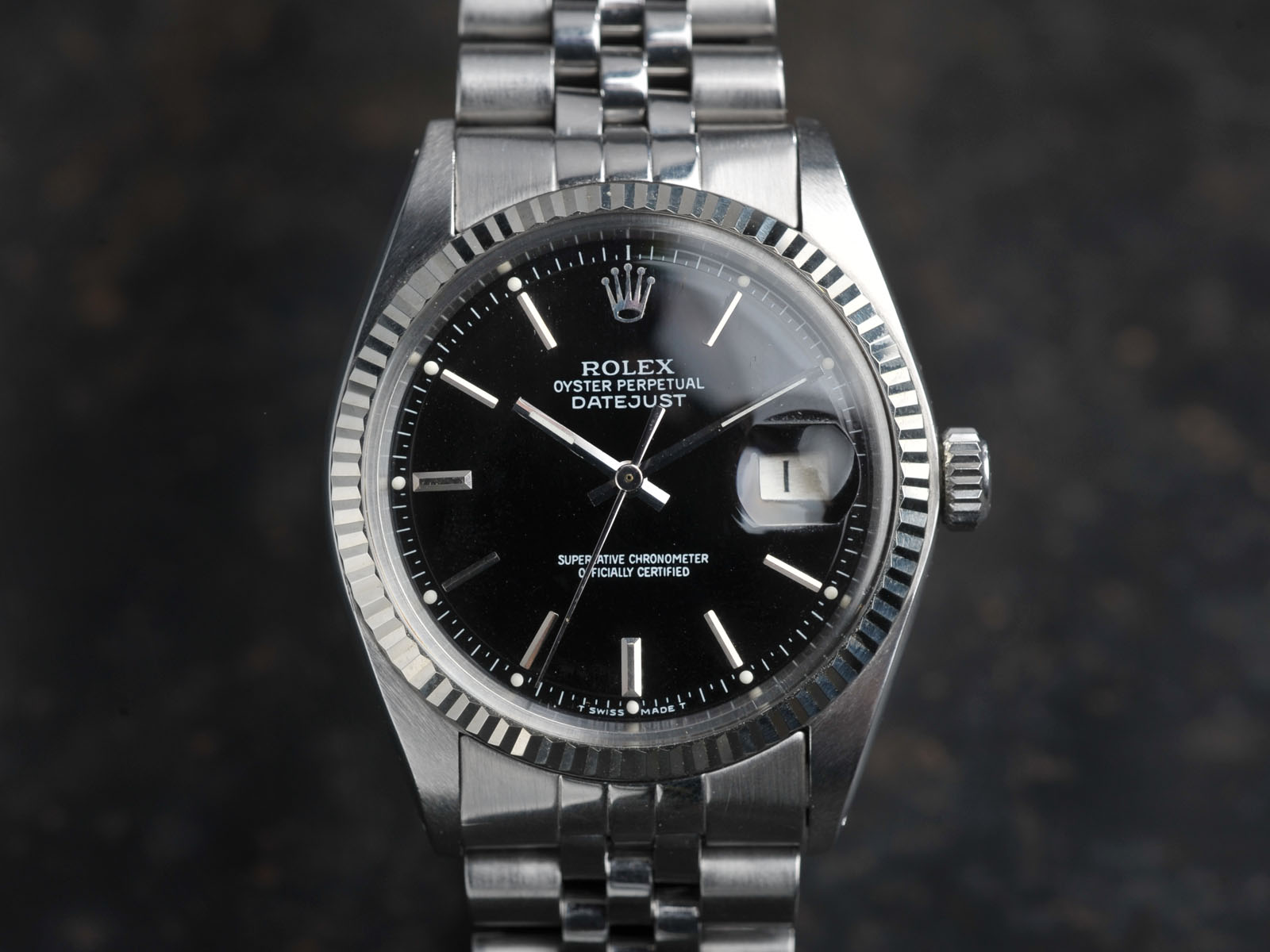 Fedex Box Prices >> GLOSS BLACK DIAL ROLEX DATEJUST 1601 (SOLD) - Bulang and Sons