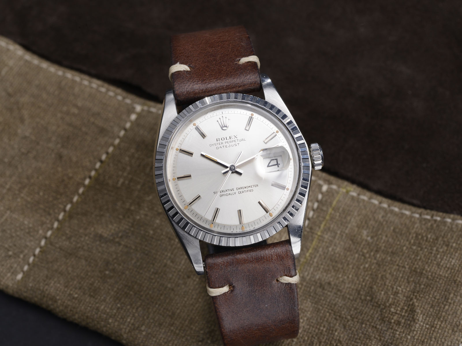 Fedex Box Prices >> ROLEX DATEJUST 1603 SILVER SIGMA DIAL (HOLD) - Bulang and Sons