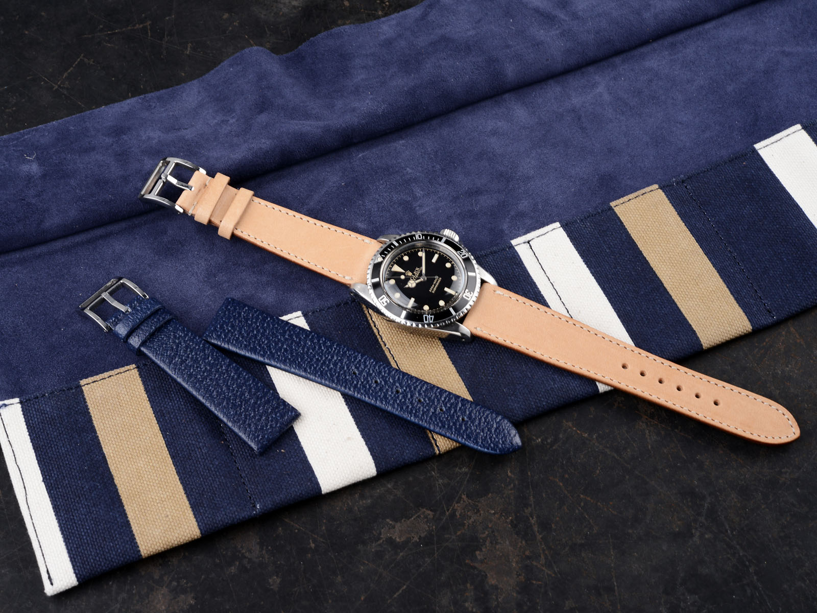B&S 'Riviera Chic' Strap and Watch-Roll Set
