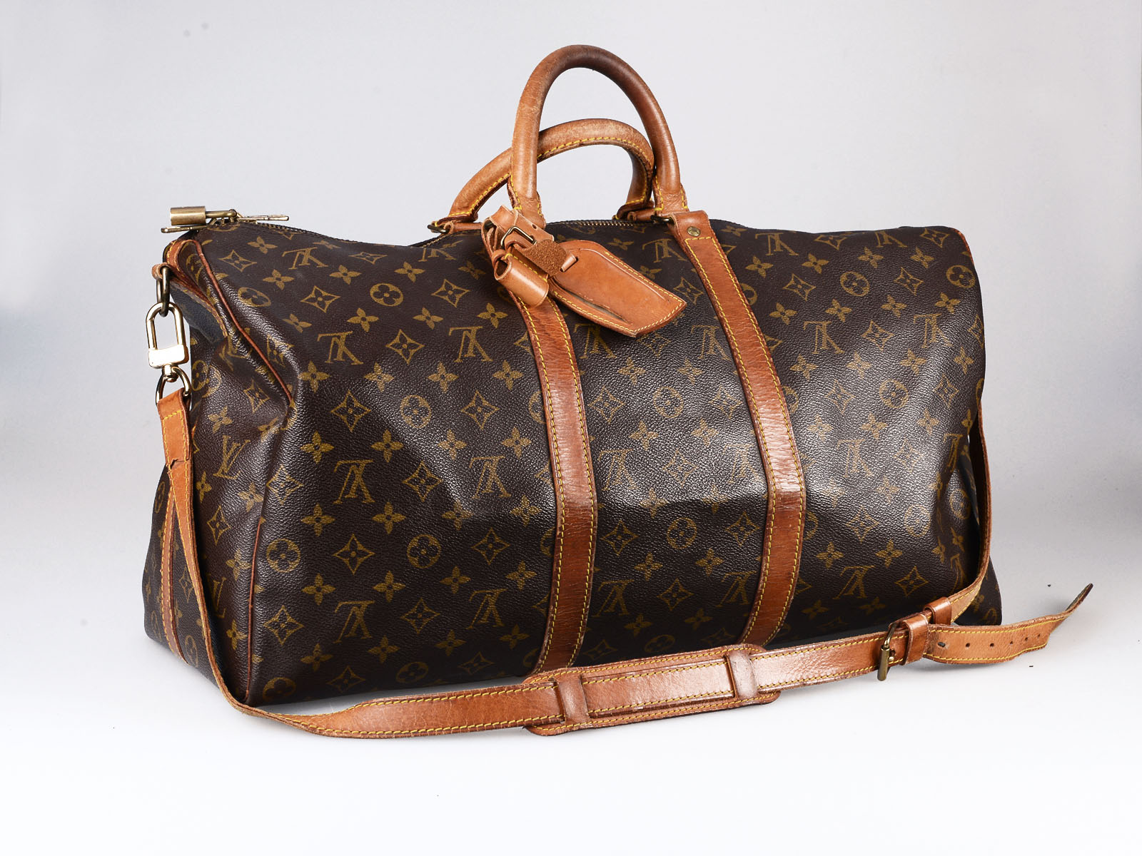 Top B&S vintage Louis Vuitton Keepaal 50 duffle bag. Bulang & Sons  ZN54