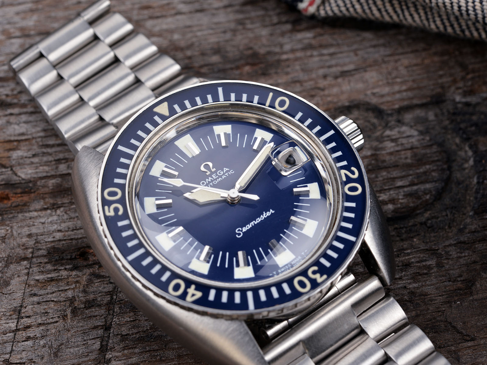 Image result for vintage omega seamaster blue