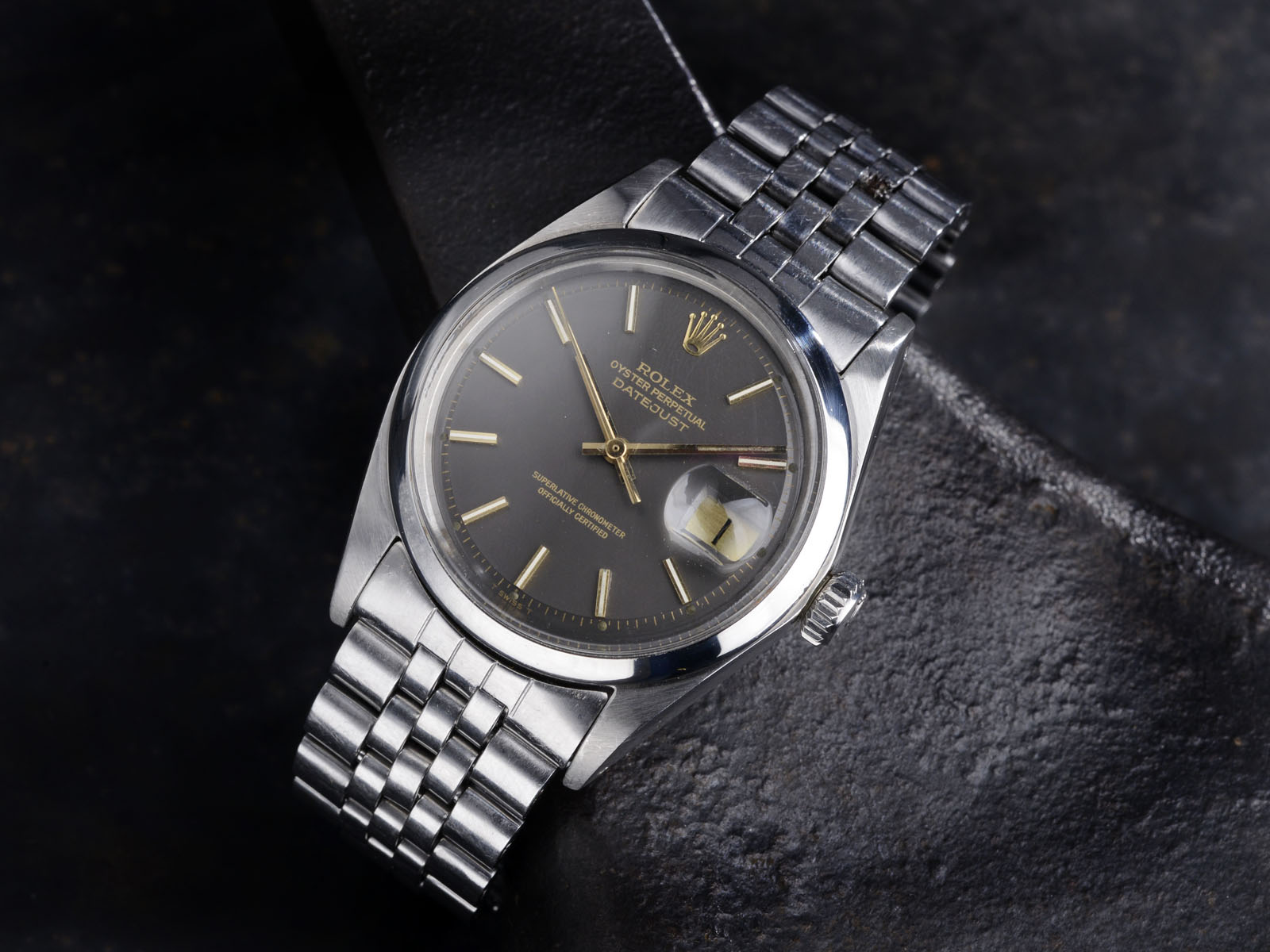 B&S W-99 Rolex Datejust 1600 gilt 4:15 01