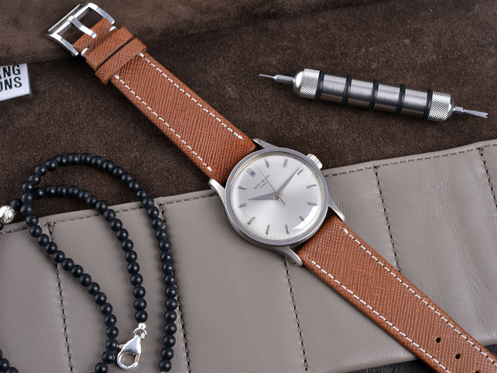 B&S 'Classy Marrone' Hand-made Leather Strap 20 mm