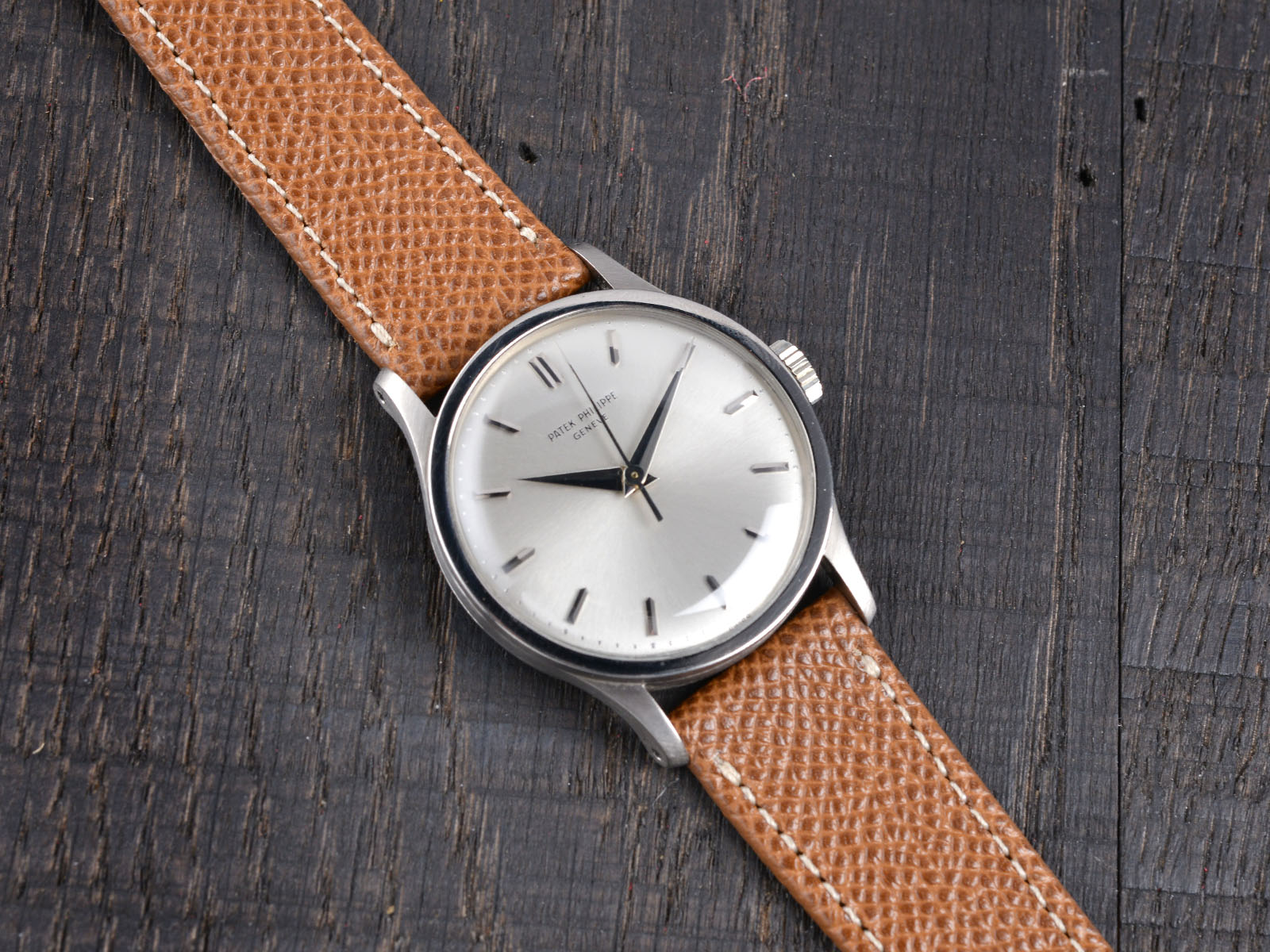 B&S 'Classy Caramel' Hand-made Leather Strap 20 mm