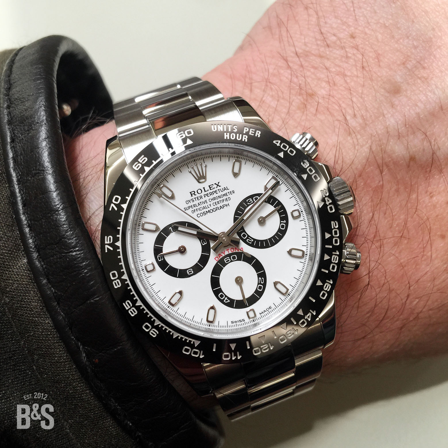 The New Rolex Daytona 116500 LN with ceramic bezel in black and white.