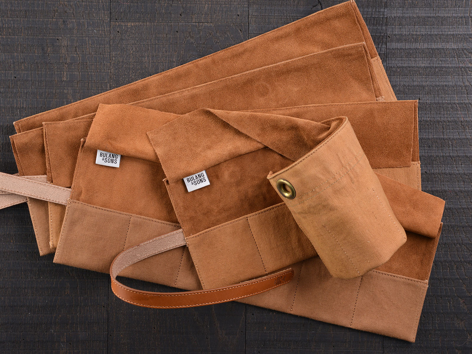 B&S/JP 'Signature' Vintage Leather / Canvas Watch Roll 09