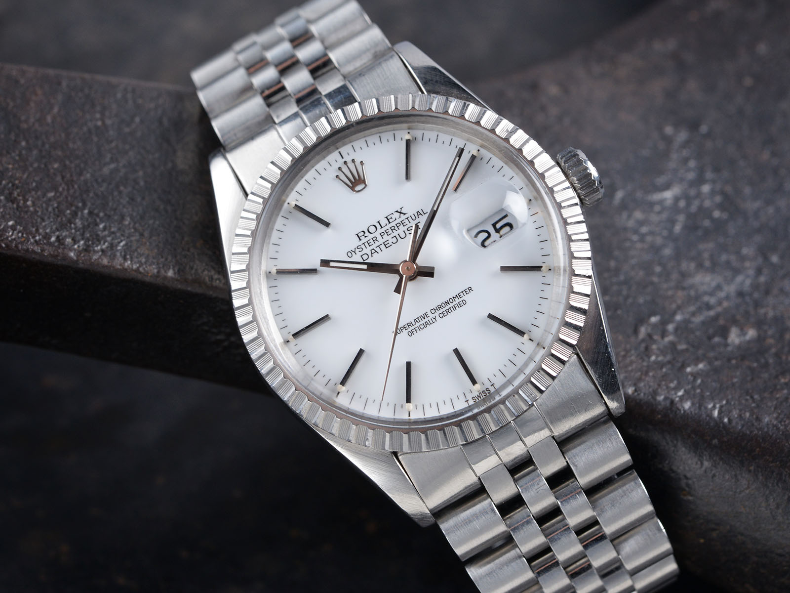 rolex 16030 datejust white dial box  u0026 papers