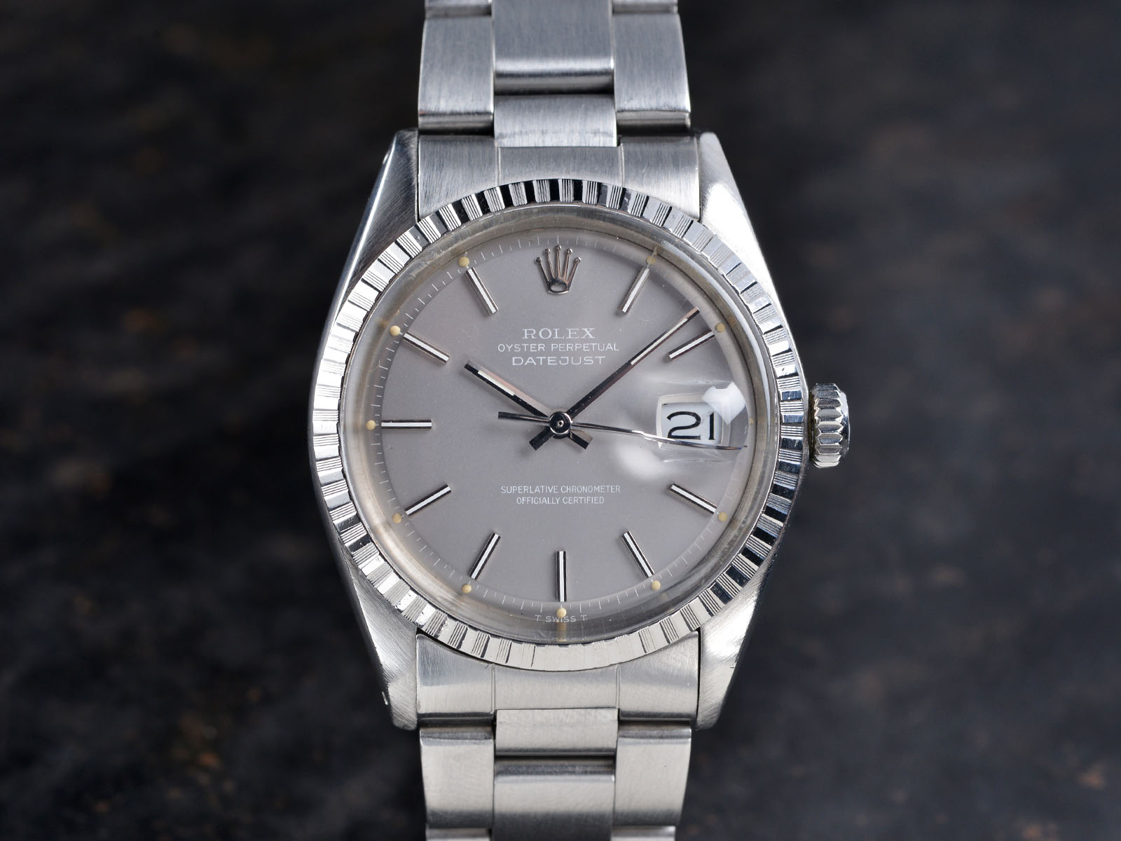 Fedex Box Prices >> ROLEX 1603 DATEJUST GHOST GREY DIAL - Bulang and Sons