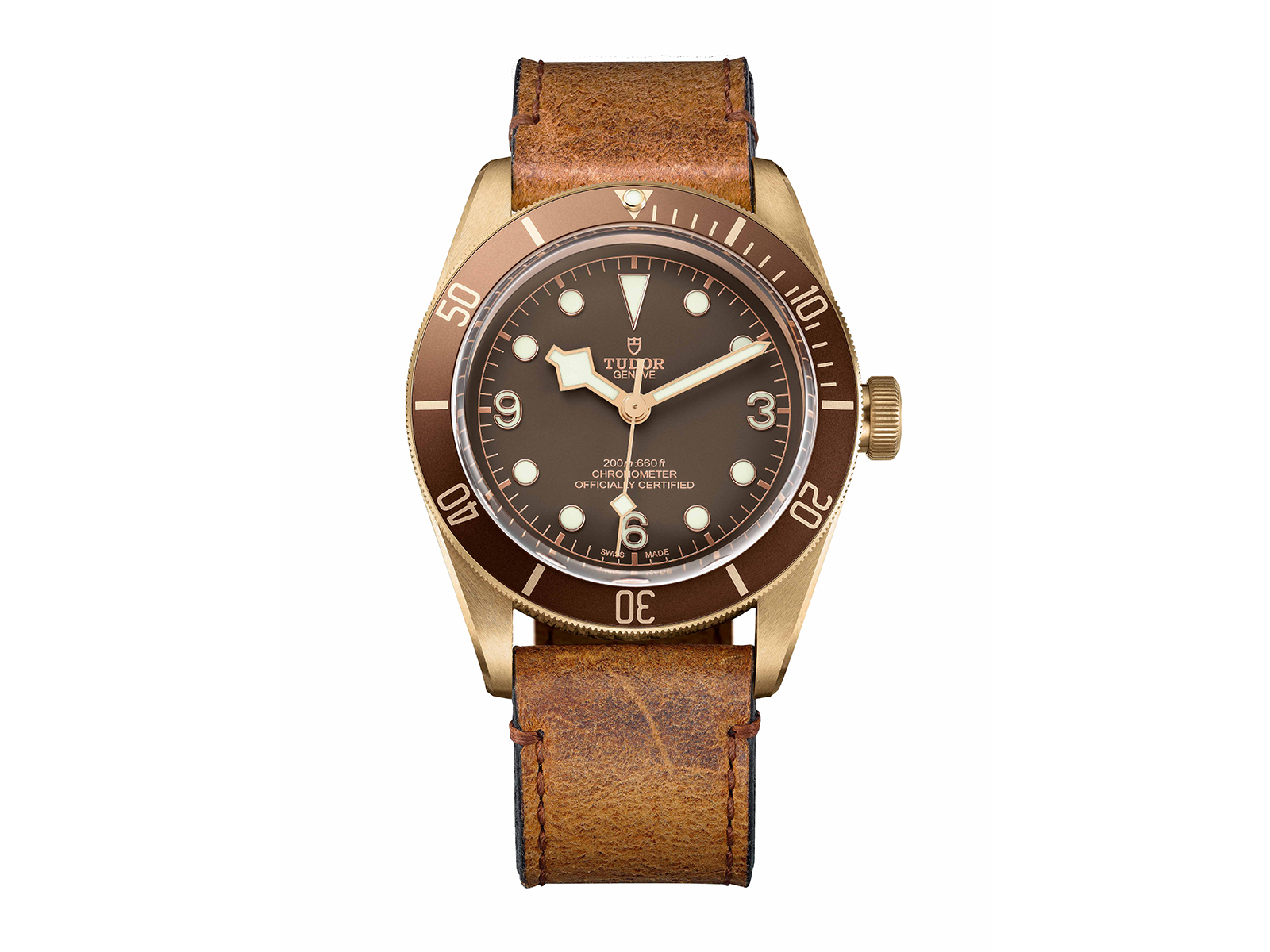 WITHE LEATHER HERITAGE BLACK BAY BRONZE 2