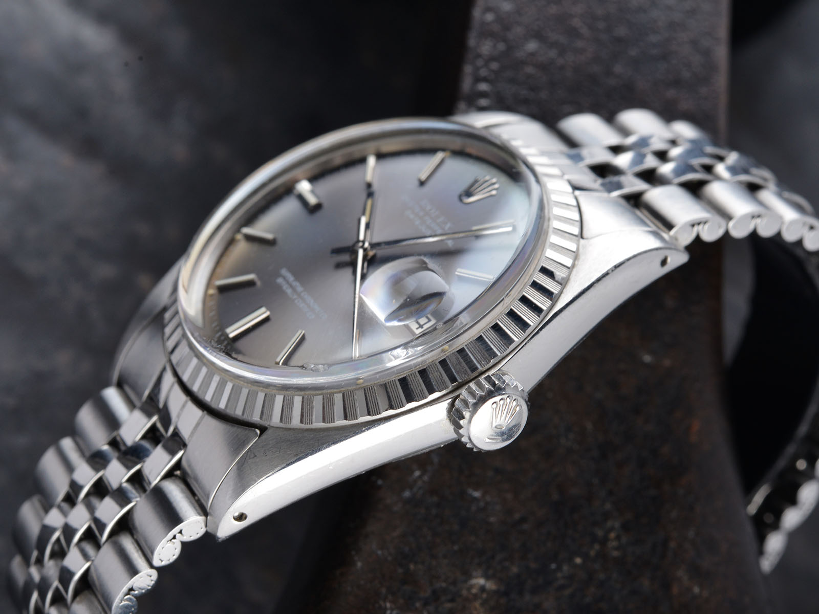 Fedex Box Prices >> ROLEX 1603 DATEJUST GREY DIAL 1972 - Bulang and Sons
