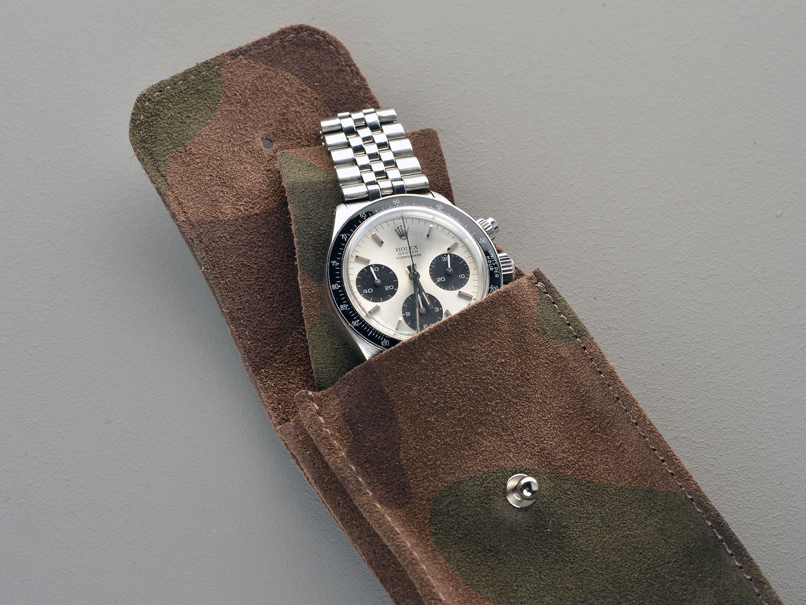 B&S Dark Camo Hand-made Leather Watch Pouch