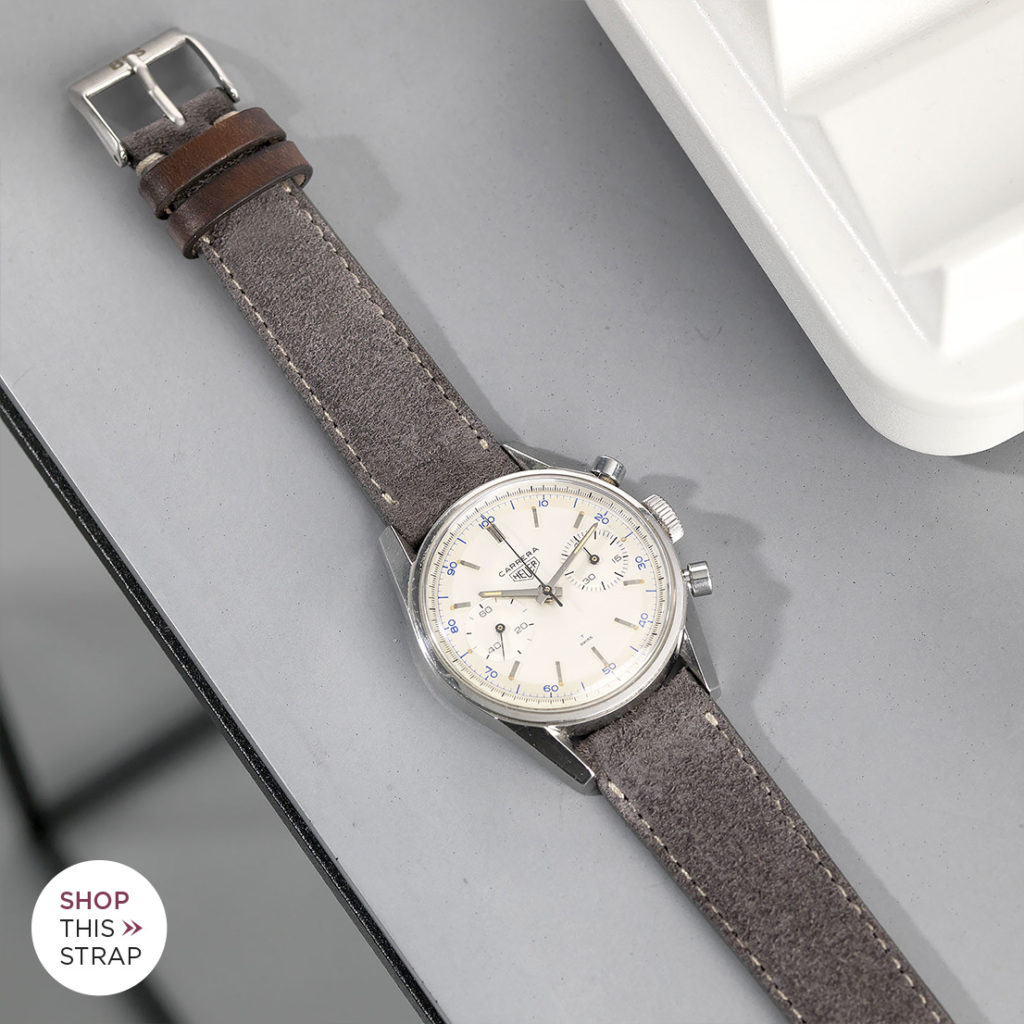 Heuer Carrera Chronograph Leather watch Strap