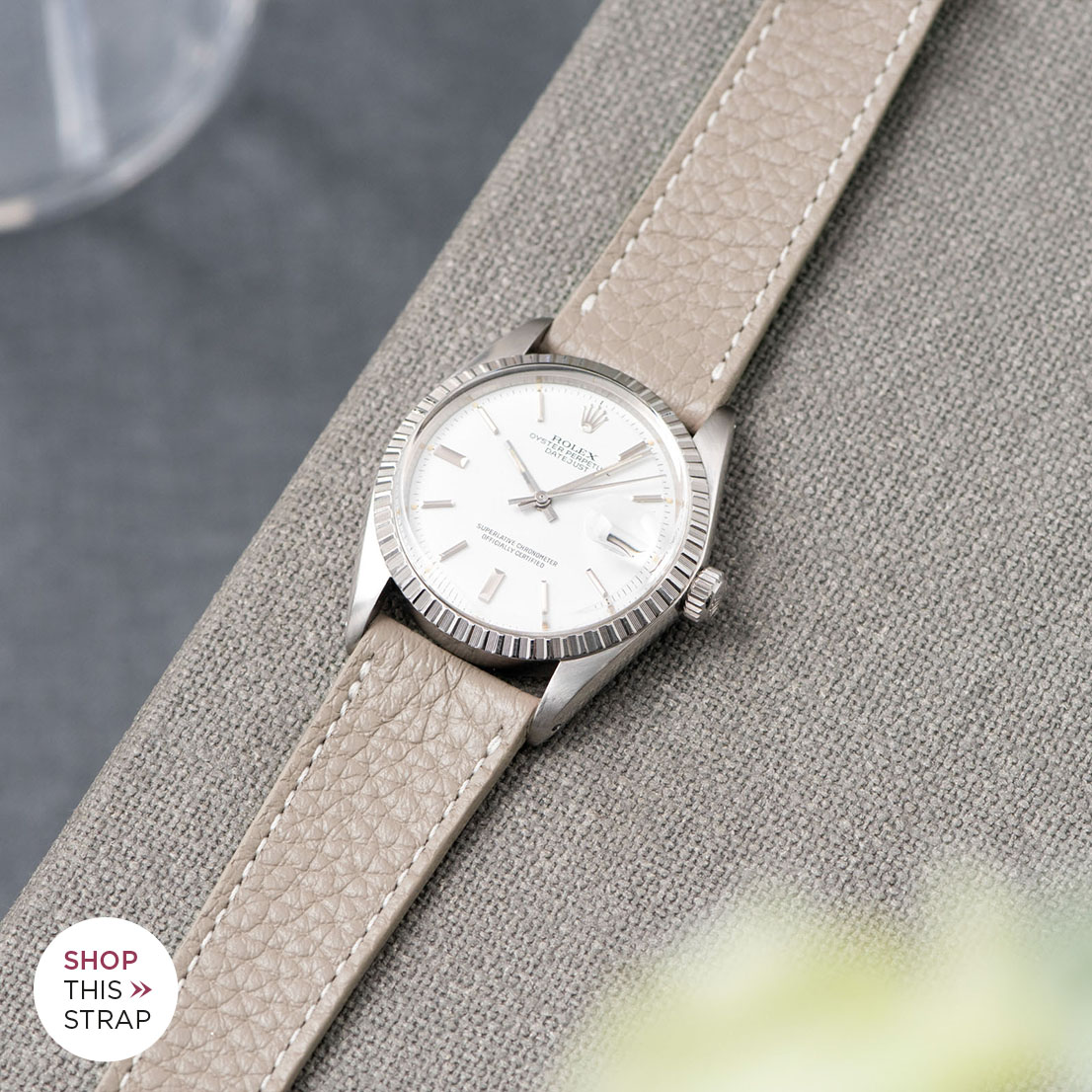 Bulang and Sons Strap Guide Rolex Datejust White