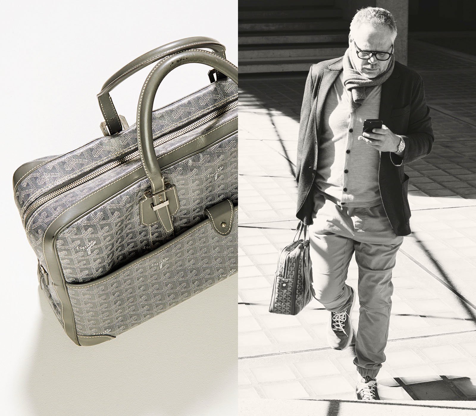 5174d97264a9d The Goyard Ambassador PM Briefcase Grey – has been my go to for over 1  year. Absolute understated coolness! Shop it here