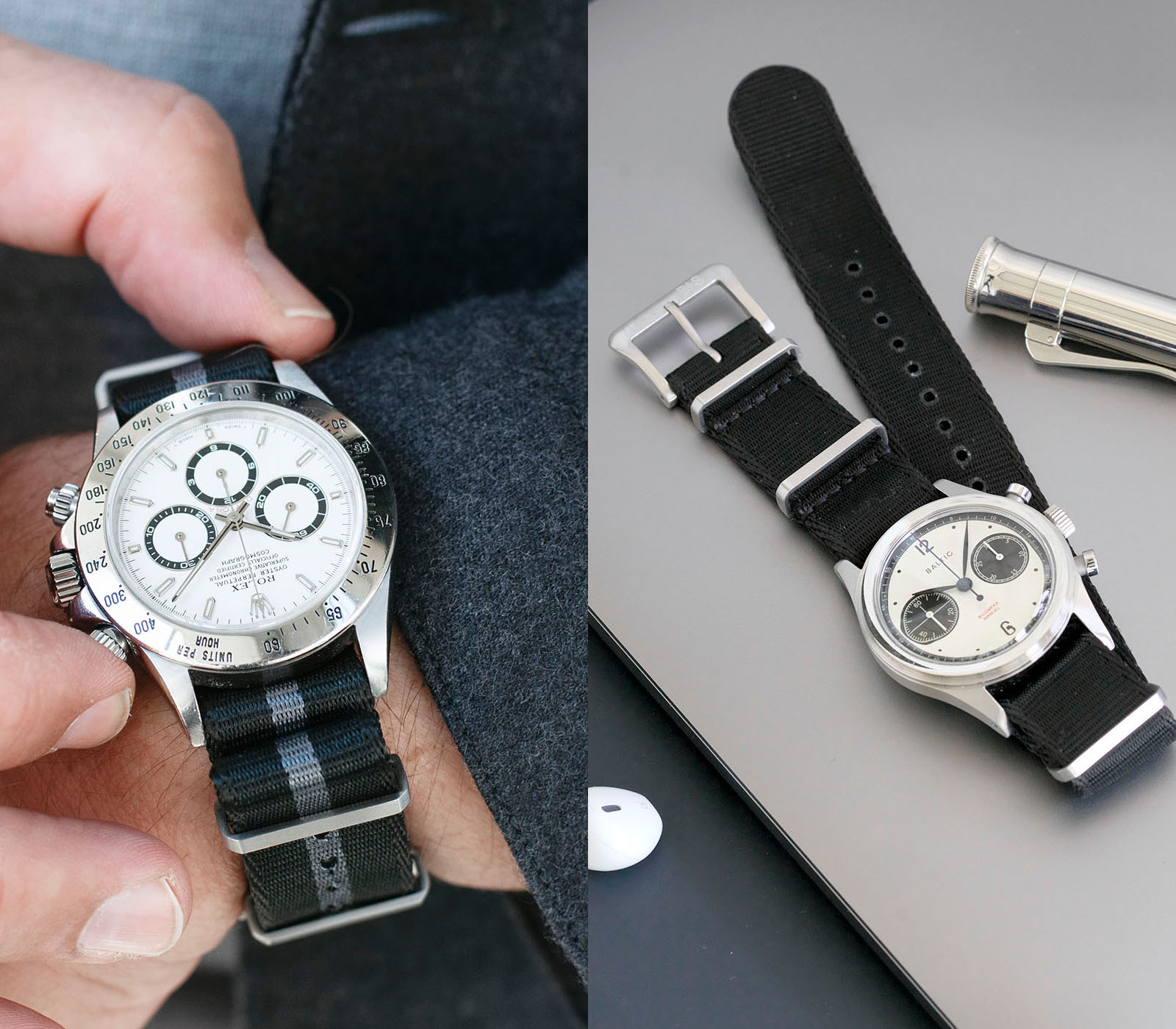The 9 TO 5 Collection - Authentic Style for your Business and Life, Rolex 16520 Zenith Daytona on a Bulang and Sons Watch Strap