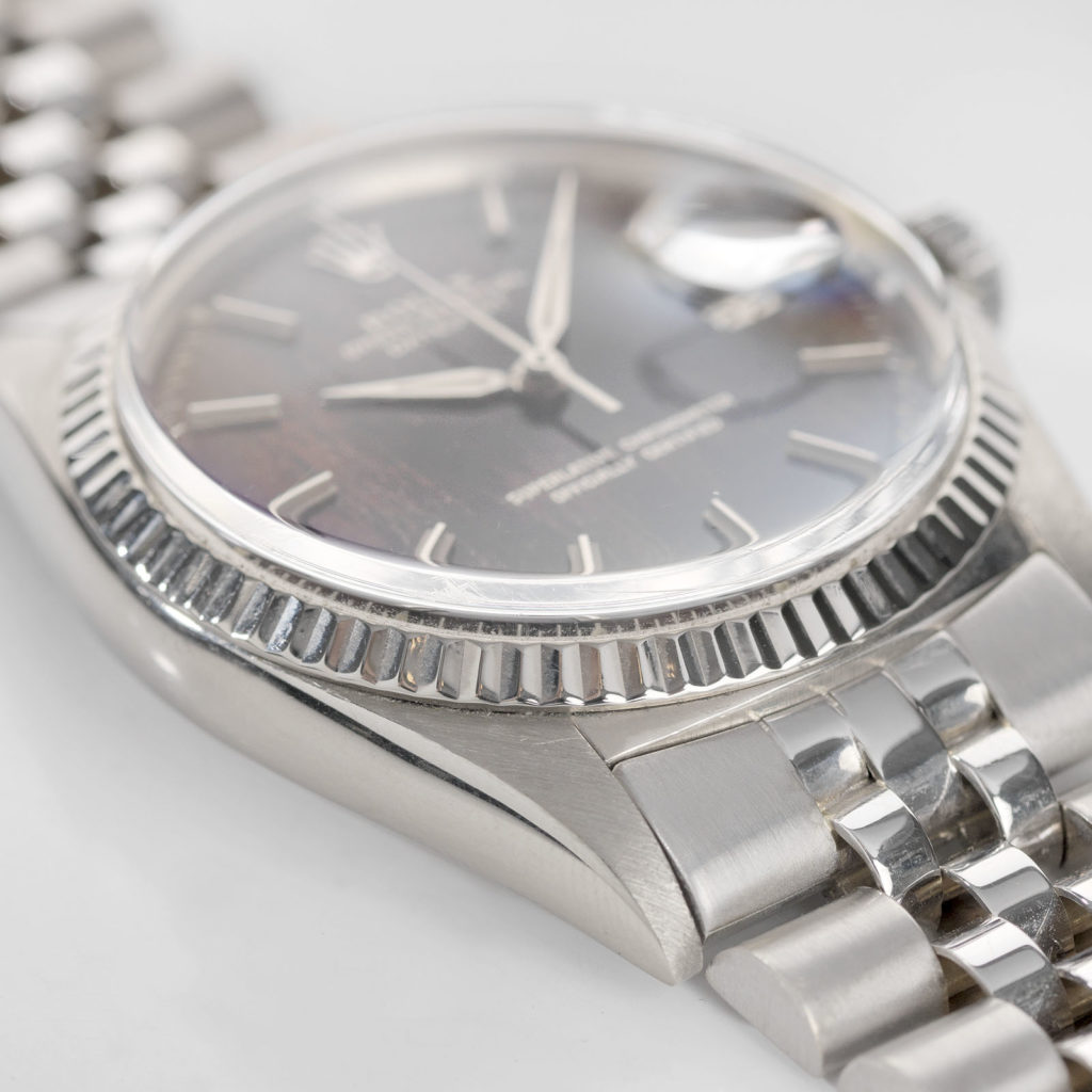 ROLEX WHITE GOLD DATEJUST TROPICAL DIAL REFERENCE 1601