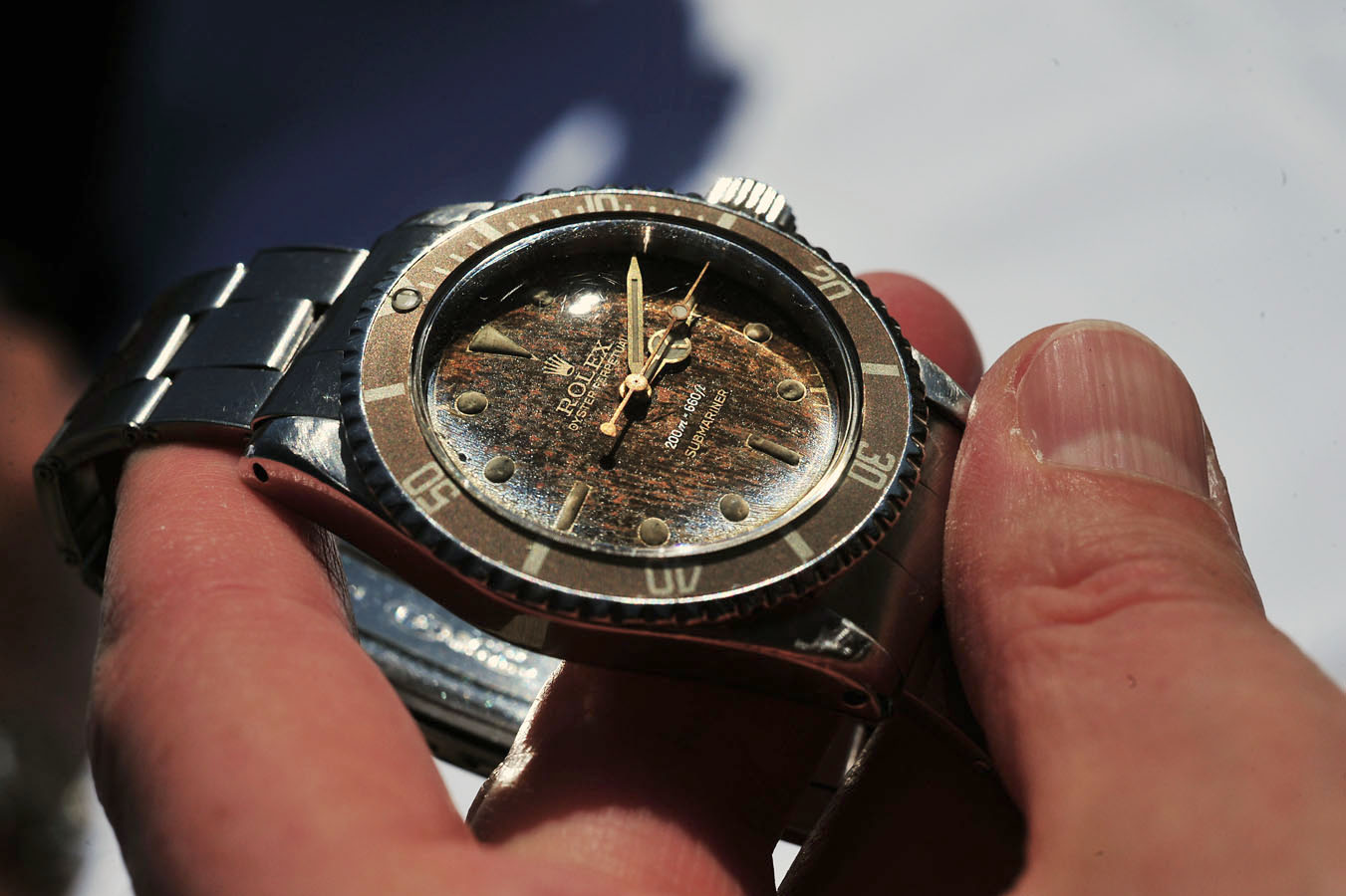 Rolex 5513 Submariner Article at Bulang and Sons - Gilt Dial Tropical