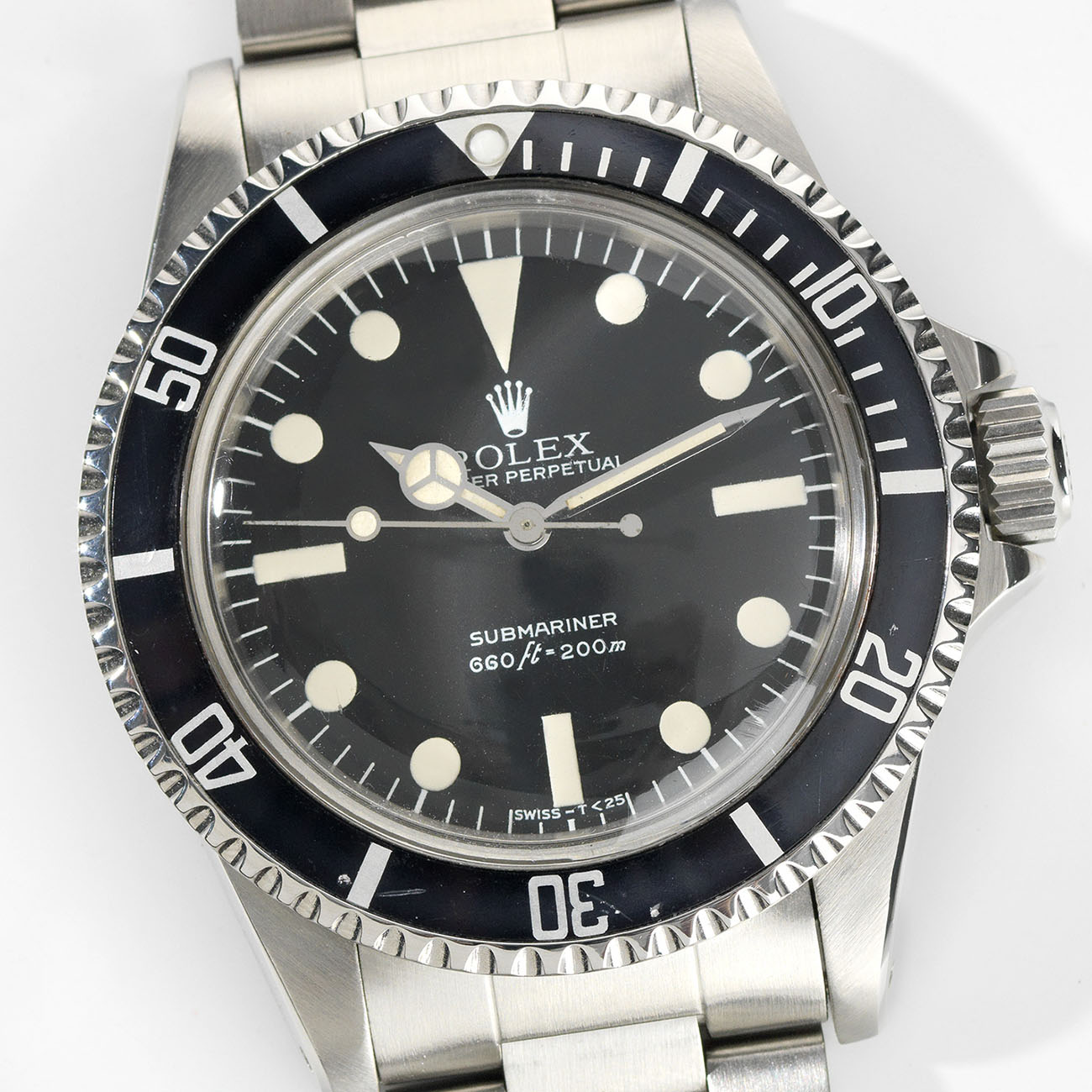Vintage Rolex 5513 Submariner Love - Article at Bulang and Sons - Maxi Dial and Leather Watch Strap