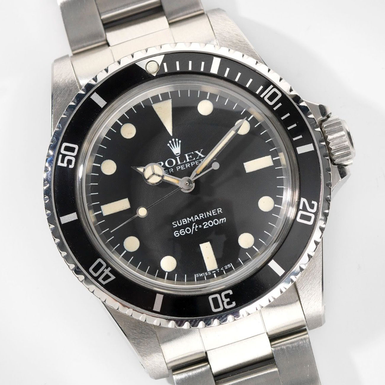 Vintage Rolex 5513 Submariner Love - Article at Bulang and Sons - Maxi MK4 Dial and Leather Watch Strap