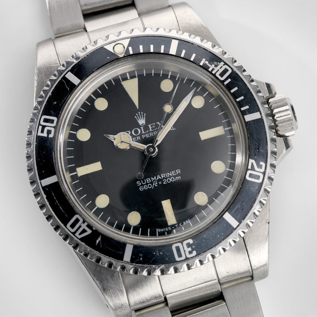 Vintage Rolex 5513 Submariner Love - Article at Bulang and Sons - Maxi MK5 Dial and Leather Watch Strap