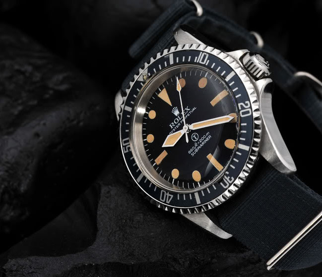 Vintage Rolex 5517 Milsub Submariner Love - Article at Bulang and Sons