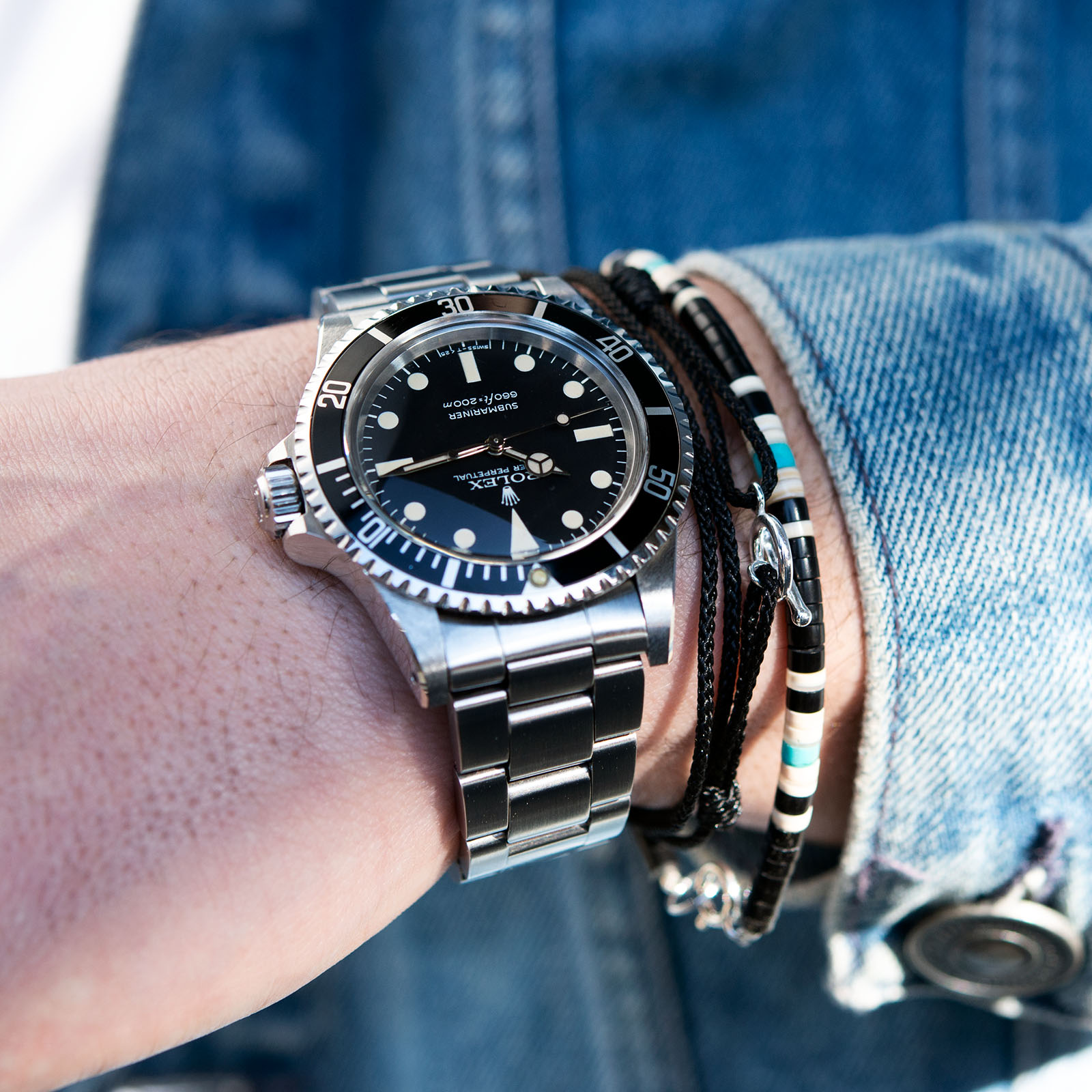 Vintage Rolex 5513 Submariner Love - Article at Bulang and Sons - Maxi Dial Mk5