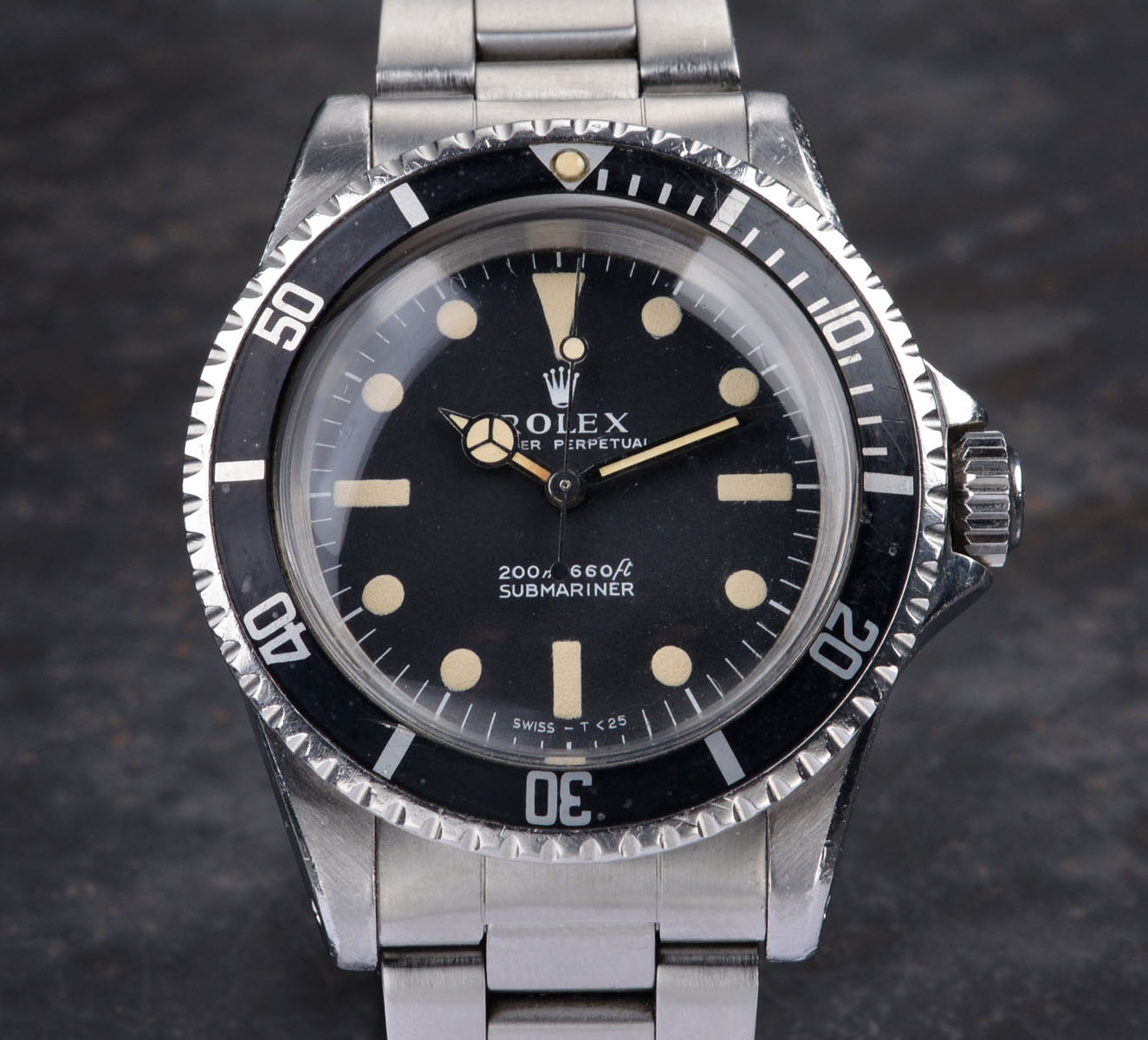 Vintage Rolex 5513 Submariner Love - Mtr's first dial - Article at Bulang and Sons