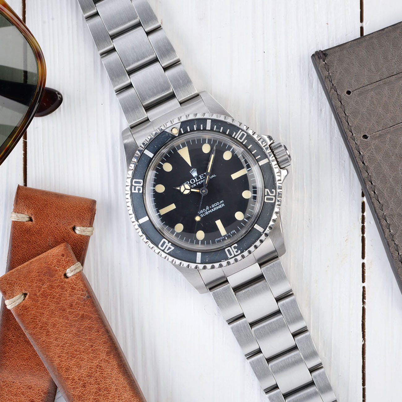 Vintage Rolex 5513 Submariner Love - Article at Bulang and Sons - Pre COMEX Dial