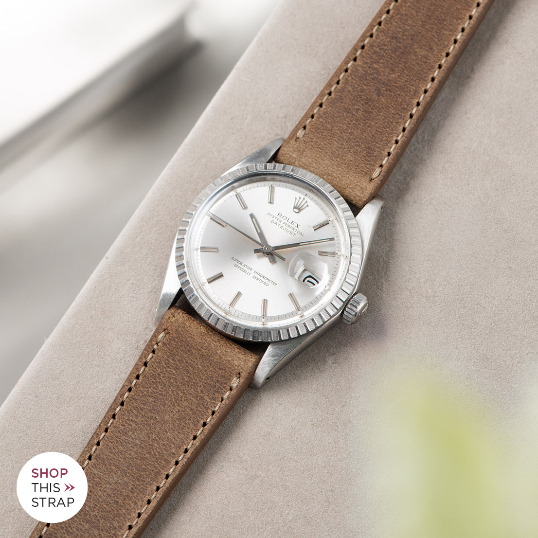 Bulang and sons_Strap Guide_Rolex Datejust Silverdial 1601 1603 1600 1630_CINNAMON BROWN LEATHER WATCH STRAP
