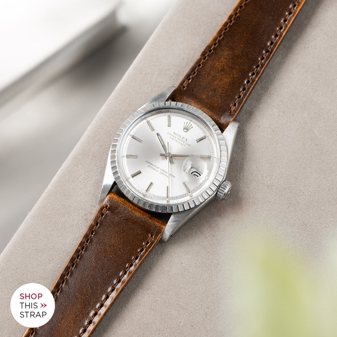 Bulang and sons_Strap Guide_Rolex Datejust Silverdial 1601 1603 1600 1630_DEGRADE HONEY BROWN LEATHER WATCH STRAP