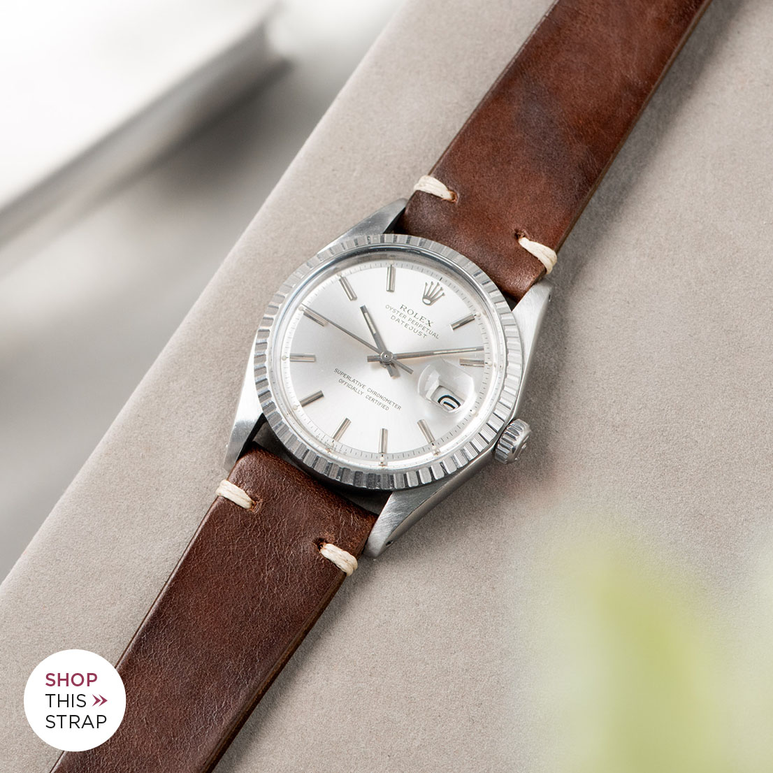 Bulang and sons_Strap Guide_Rolex Datejust Silverdial 1601 1603 1600 1630_LUMBERJACK BROWN LEATHER WATCH STRAP