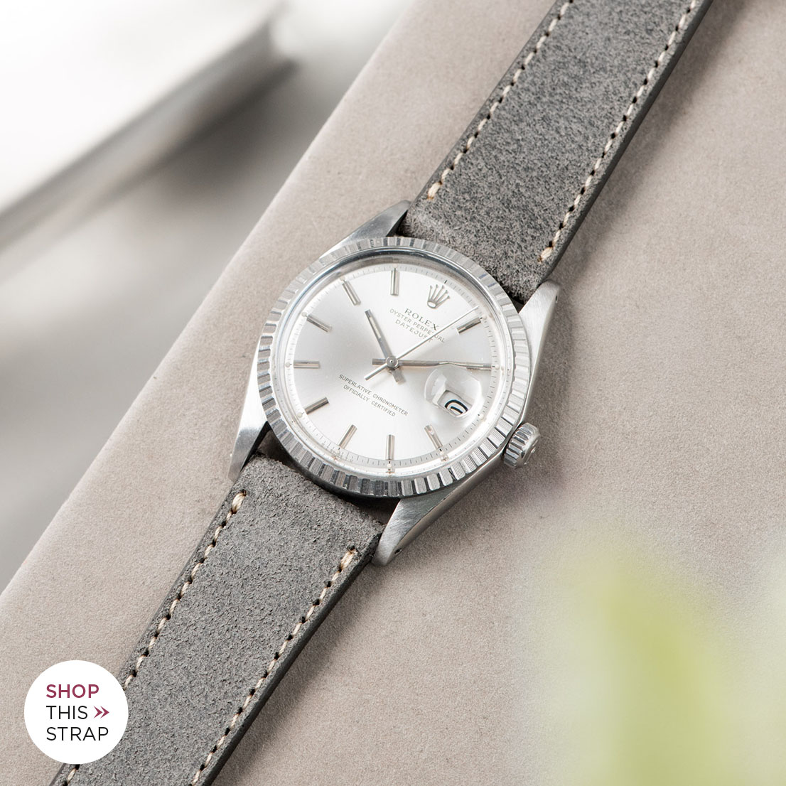 Bulang and sons_Strap Guide_Rolex Datejust Silverdial 1601 1603 1600 1630_REFINED RUGGED GREY LEATHER WATCH STRAP