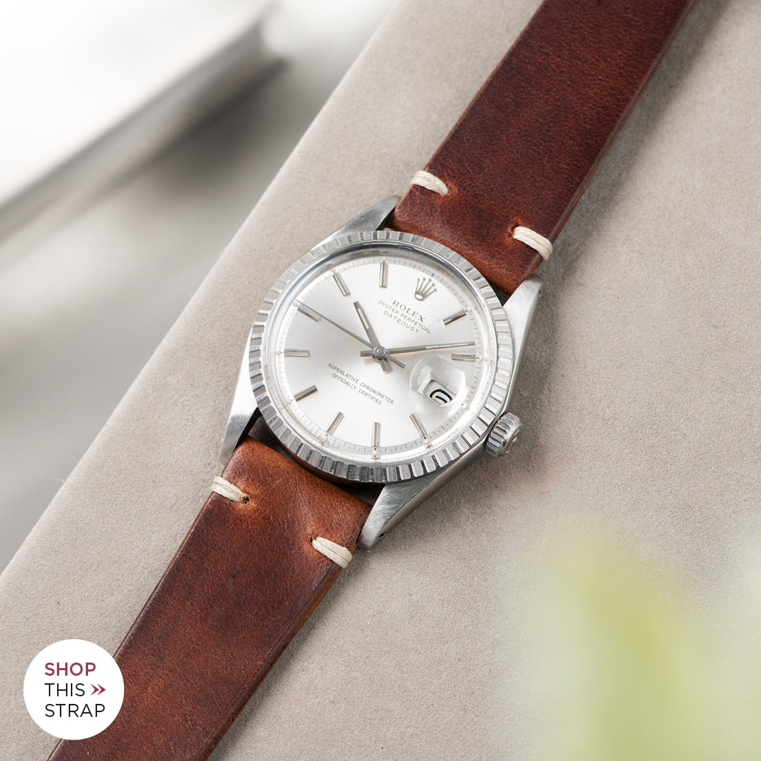 Bulang and sons_Strap Guide_Rolex Datejust Silverdial 1601 1603 1600 1630_SIENA BROWN LEATHER WATCH STRAP