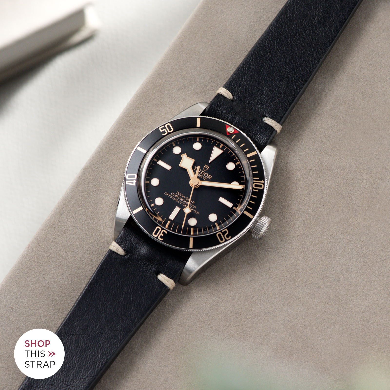 Bulang and Sons_Strap Guide_Tudor Black Bay 58_Black Leather Watch Strap