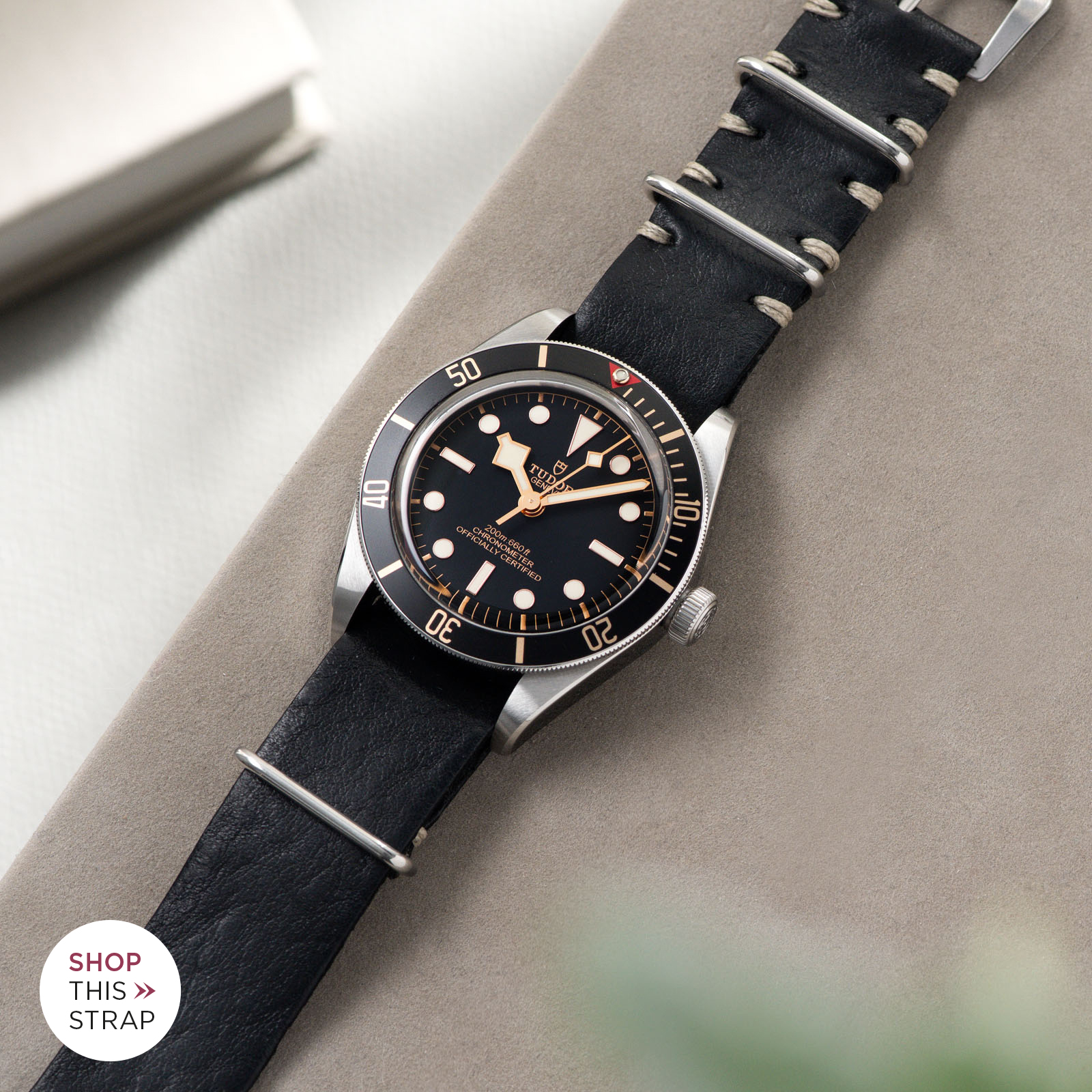 Bulang and Sons_Strap Guide_Tudor Black Bay 58_Black Nato Leather Watch Strap