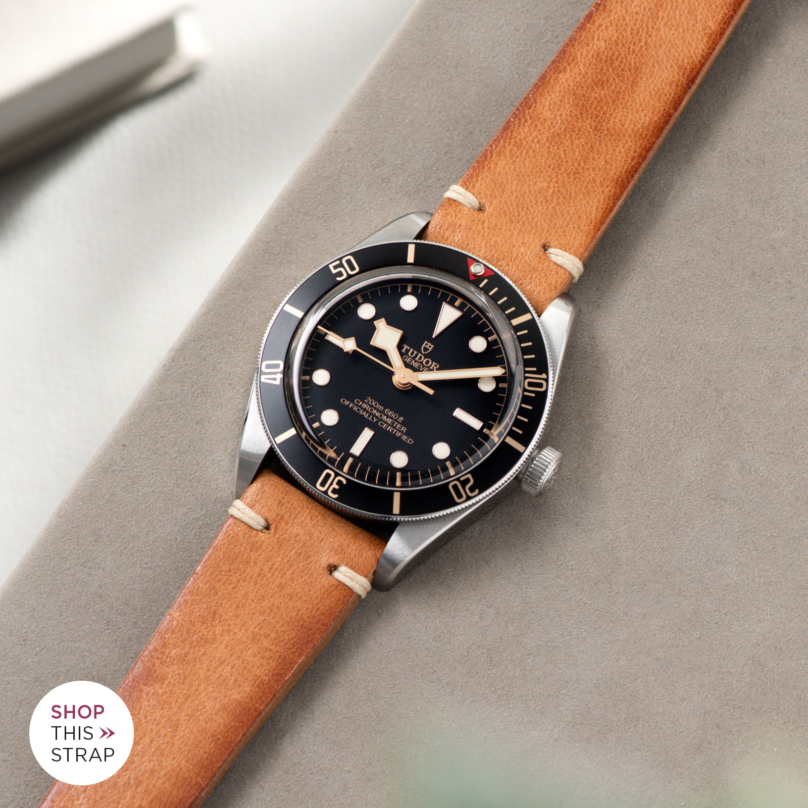 Bulang and Sons_Strap Guide_Tudor Black Bay 58_Caramel Brown Leather Watch Strap