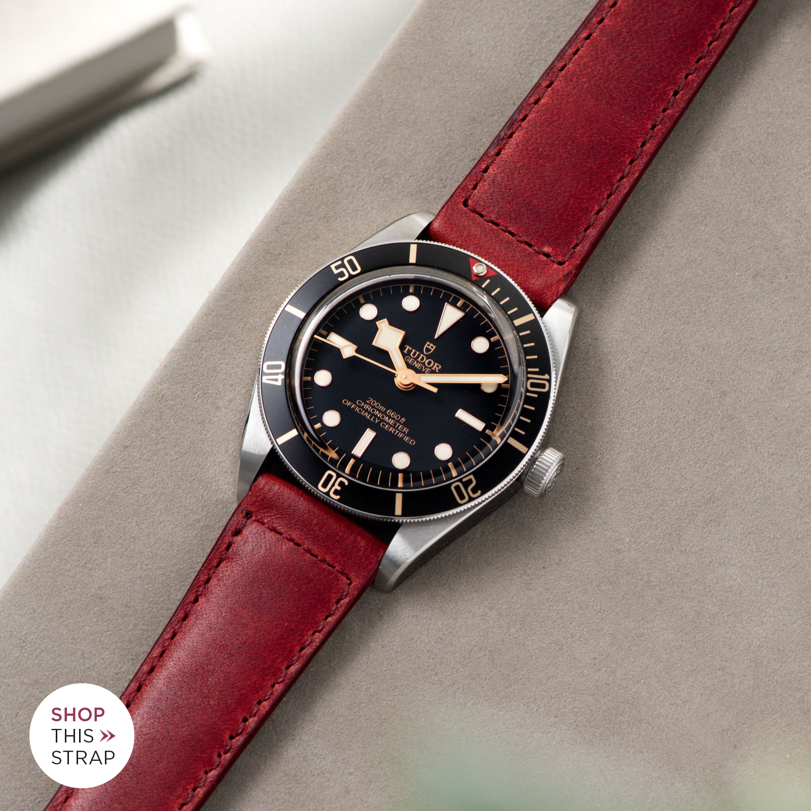 Bulang and Sons_Strap Guide_Tudor Black Bay 58_Chimney Red Leather Watch Strap
