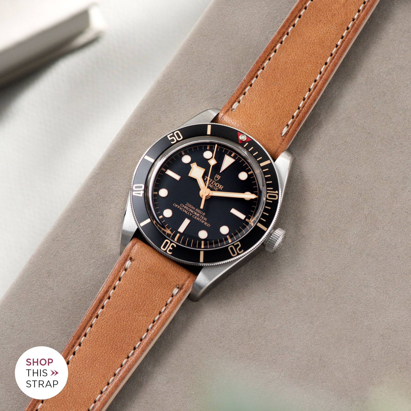 Bulang and Sons_Strap Guide_Tudor Black Bay 58_Cosaro Brown Retro Leather Watch Strap